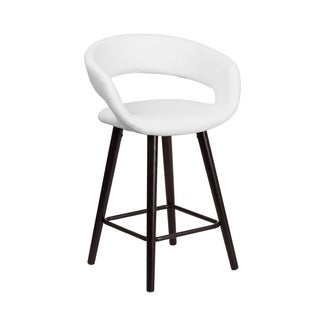 Carson Carrington Kristiansand 24-inch Vinyl Counter Height Cappuccino Wood Frame Stool