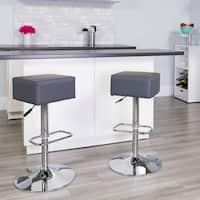 Porch & Den Stonehurst Royal Ann Vinyl/ Chrome Base Adjustable Height Bar Stool