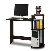 Porch & Den Baruch Compact Modern Wood Computer Desk with Shelves