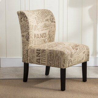 The Curated Nomad Pavilion Upholstered Armless Accent Slipper Chair