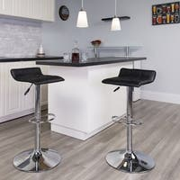 Porch & Den Stonehurst Cary Contemporary Vinyl Bar Stool