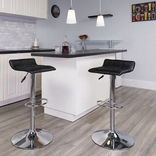 Porch & Den Cary Contemporary Vinyl Bar Stool