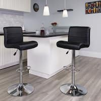 Porch & Den Clara Vinyl/ Chrome Adjustable Height Bar Stool