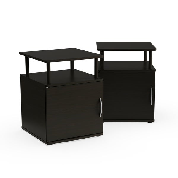 Porch U0026amp; Den East Village Mangin Black Utility Design Storage End Table
