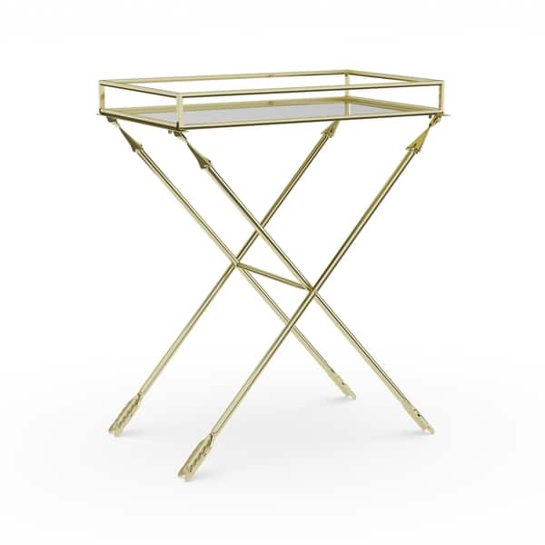 Silver Orchid Jalabert Arrow Metal Accent Table With
