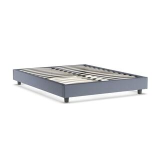 Hadwen Grey Linen Fabric Full/Queen Size Bed Frame