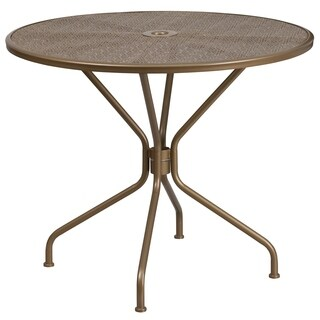 Havenside Home Bethune Round Steel Patio Table - 32.5""