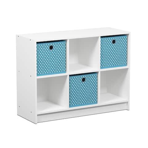 Porch & Den Szold Basic Storage Bookcase with Bins