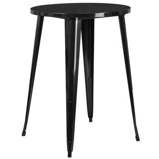 Porch & Den Stonehurst Tartarian Round Metal Indoor/ Outdoor Bar Height Table