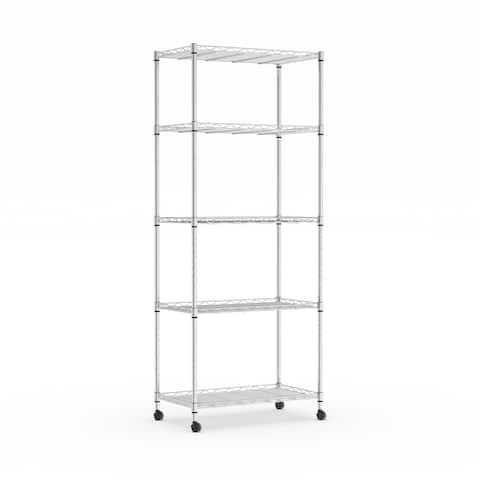 Porch & Den Absecon 4-tier Wheeled Metal Storage Rack