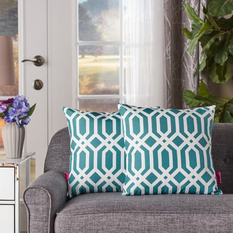 Raylan Arabesque Fabric Pillow (Set of 2) by Christopher Knight Home