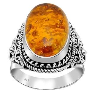 Handmade 925 Sterling Silver Wedding Ocean Bridal Ring with Choice of Gemstone