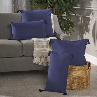 Nolan Tassel Fabric Pillow (Set of 4) by Christopher Knight Home