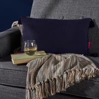 Nolan Rectangle Tassel Fabric Pillow by Christopher Knight Home