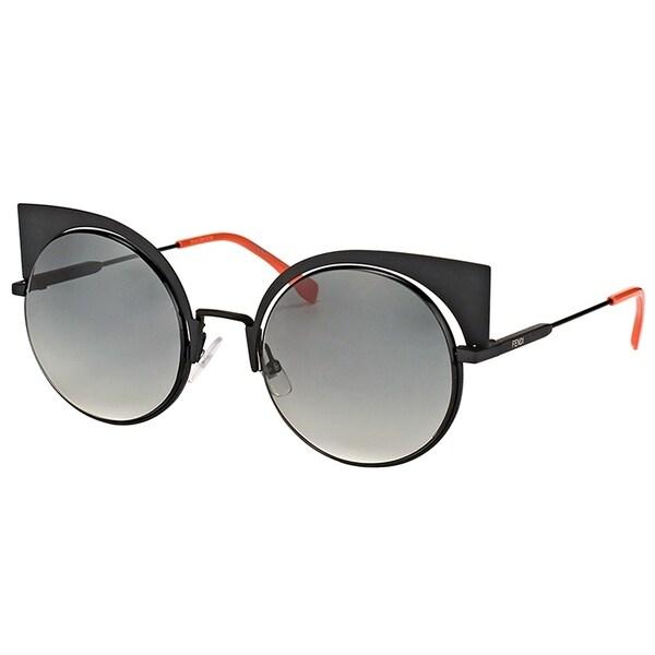 7d5e040456c Fendi Cat-Eye FF 0177 Eyeshine 003 VK Women Matte Black Frame Grey Gradient  Lens