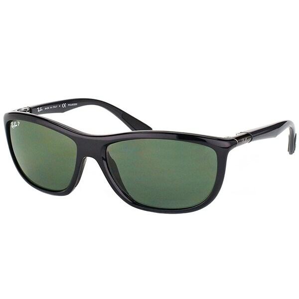 0870836f41 Ray-Ban Sport RB 8351 62199A Unisex Black Frame Green Polarized Lens  Sunglasses