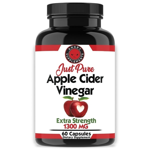 Angry Supplements Just Pure Apple Cider Vinegar Capsules (60 Count)