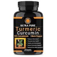 Angry Supplements Ultra Pure Turmeric Curcumin 95 Curcuminoids (60 Count)