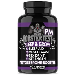 Angry Supplements Monster Test PM Night-Time Testosterone Booster and Sleep Aid (60 Count)