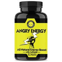 Angry Supplements 6 HR NRG Ultimate Energy Pill with Caffeine (60 Count)