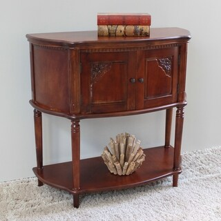 International Caravan Windsor Carved 2-Tier Console Table