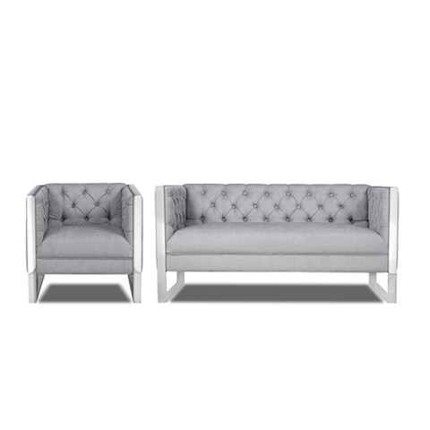 Clover settee and chair set