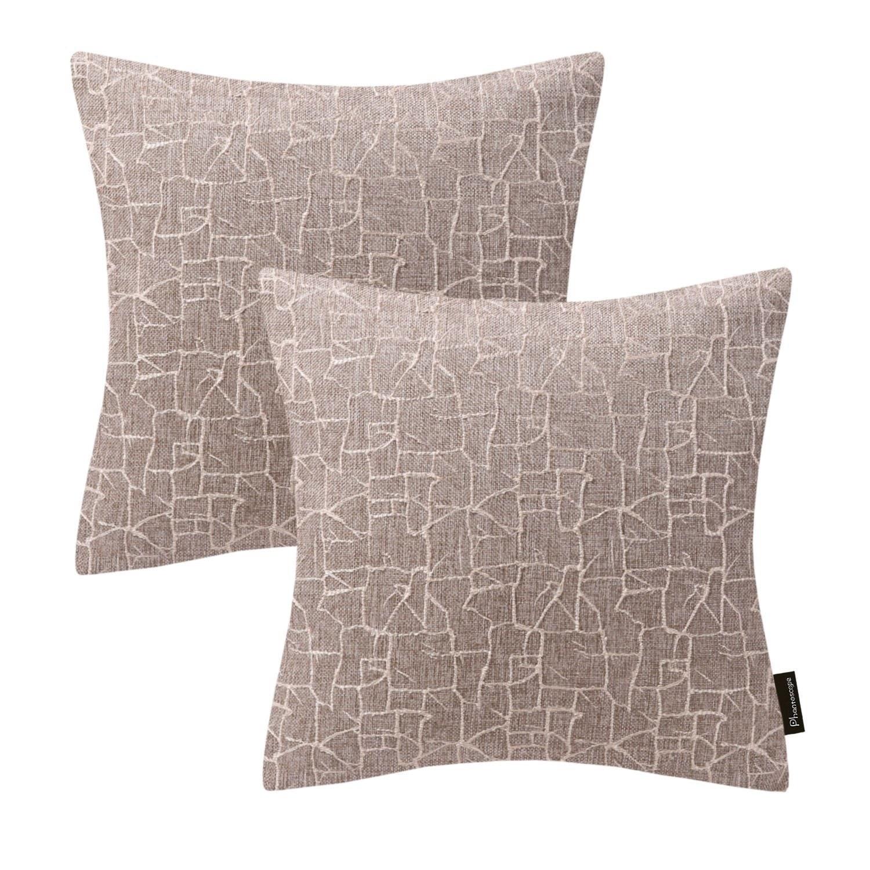Decorative Polyester Cotton Jacquard Corduroy Throw Pillowcase Beige