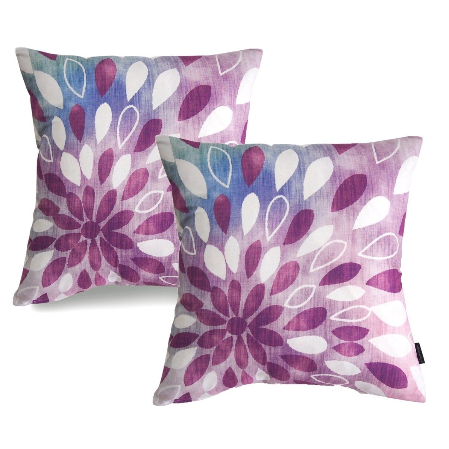 New Living Purple Series Throw Pillow Case Cushion Cover Droplets