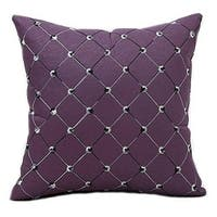 Pillow Covers Trellis Geometric Embroidered Polyester Cushion Covers