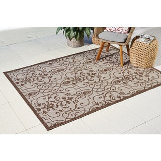 Natural Patterned Durable Indoor/Outdoor Area Rug - 5'3 x 7'3