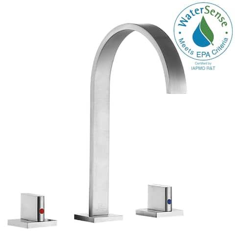 ANZZI Sabre 8 in. Widespread 2-Handle Bathroom Faucet in Brushed Nickel