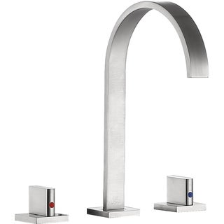 ANZZI Sabre 8 in. Widespread 2-Handle Bathroom Faucet in Brushed Nickel - Silver