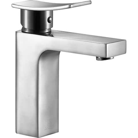 ANZZI Promenade Single Handle Bathroom Faucet in Brushed Nickel