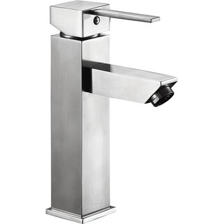 ANZZI Pygmy Single Hole Single Handle Bathroom Faucet in Brushed Nickel