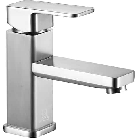 ANZZI Naiadi Single Hole Single Handle Bathroom Faucet in Brushed Nickel - Silver