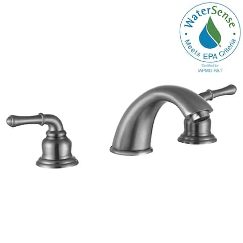 ANZZI Princess 8 in. Widespread 2-Handle Bathroom Faucet in Brushed Nickel
