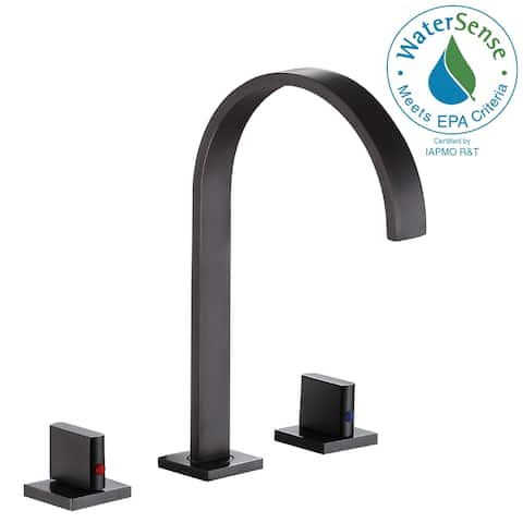 ANZZI Sabre 8 in. Widespread 2-Handle Bathroom Faucet in Oil Rubbed Bronze