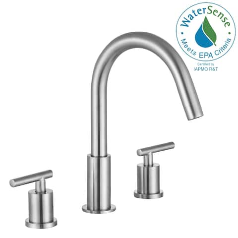 ANZZI Roman 8 in. Widespread 2-Handle Bathroom Faucet in Brushed Nickel