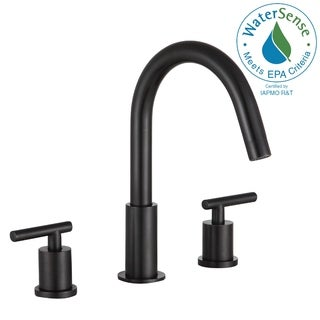 ANZZI Roman 8 in. Widespread 2-Handle Bathroom Faucet in Oil Rubbed Bronze - Silver