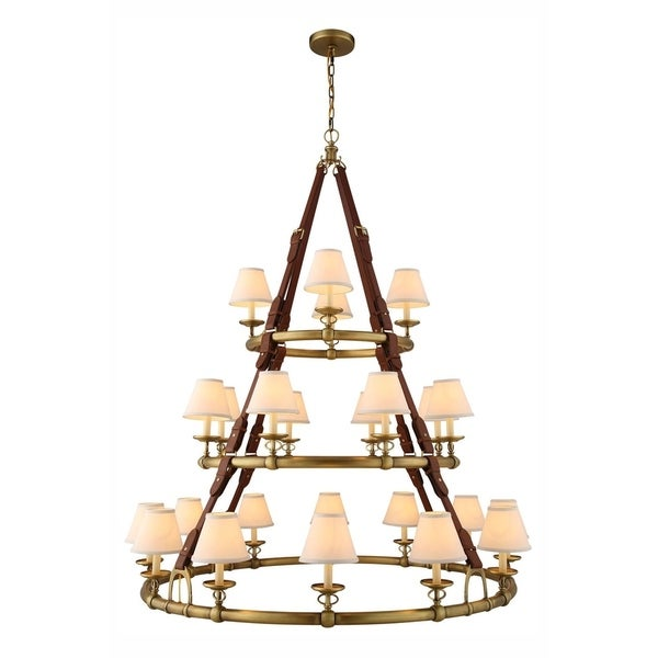 Royce Edge 24-Light Pendant (Burnished Brass, Bronze, Polished Nickel)