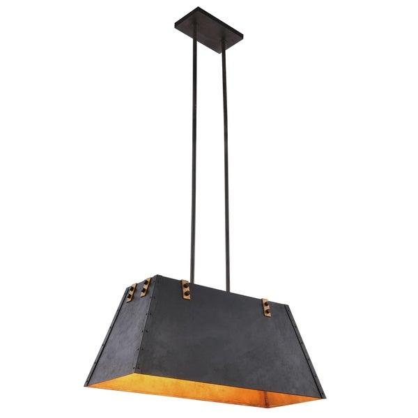 Royce Edge 4-Light Vintage Bronze&Golden Iron Pendant - vintage bronze&golden iron