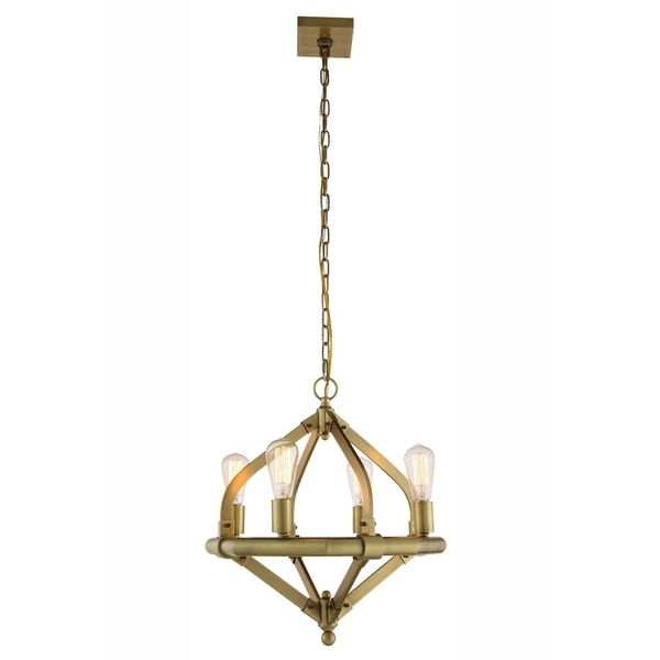 Royce Edge 4-Light Pendant (Burnished Brass, Bronze, Polished Nickel). Opens flyout.