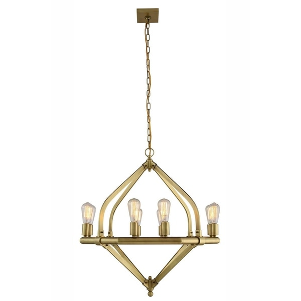 Royce Edge 8-Light Pendant (Burnished Brass, Bronze, Polished Nickel). Opens flyout.
