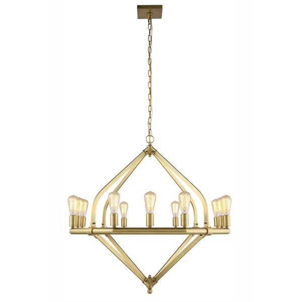 Royce Edge 12-Light Pendant (Burnished Brass, Bronze, Polished Nickel). Opens flyout.
