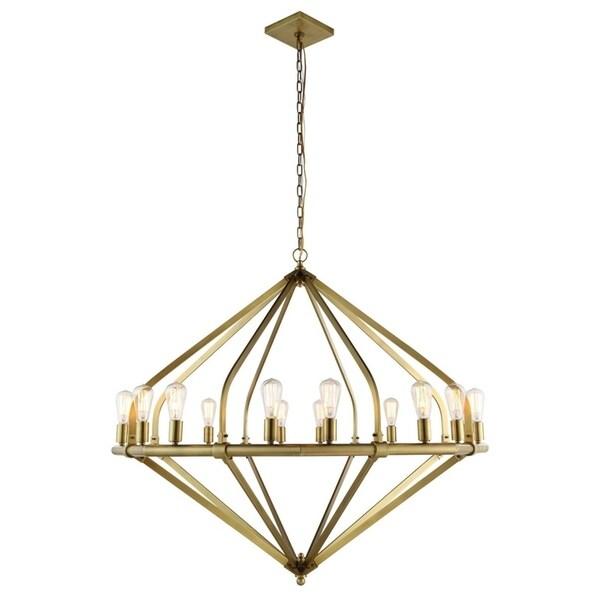 Royce Edge 16-Light Pendant (Burnished Brass, Bronze, Polished Nickel)