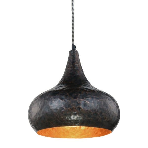 Royce Edge Vintage Copper-finish Metal 1-light Pendant