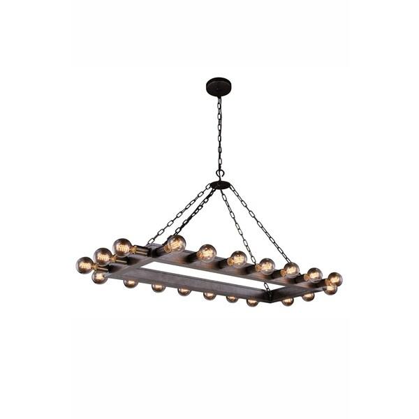 Royce Edge Metal 20-light Pendant