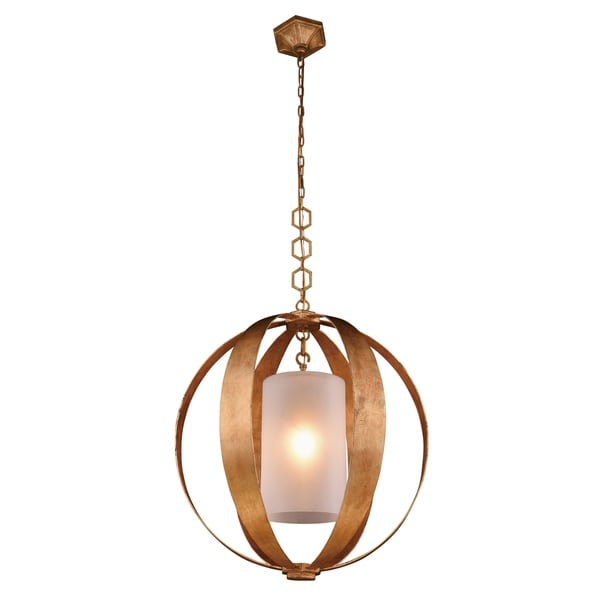 Royce Edge 1-Light Pendant (Golden Iron, Vintage Silver Leaf, Vintage Bronze)