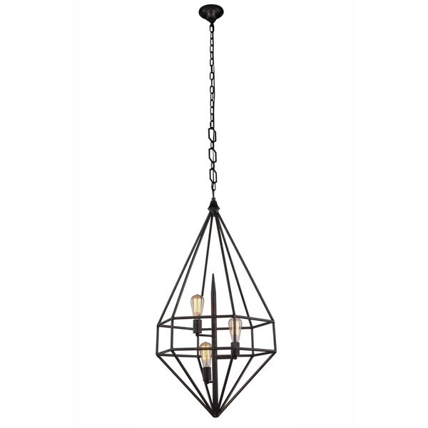Royce Edge 3-Light Pendant (Aged Iron, Golden Iron, Vintage Silver Leaf)