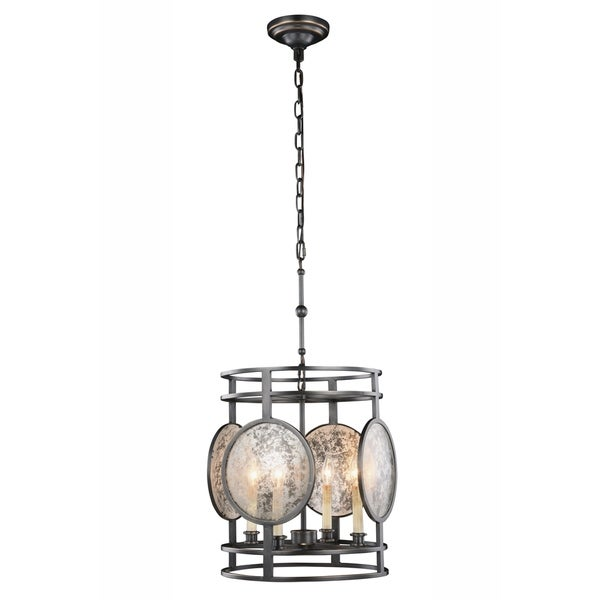 Royce Edge 4-Light Bronze Pendant